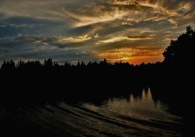 Dusk, Svir River, Russia, 2003