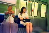 candid shot of train passengers1