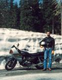 A long lost friend next to his new Suzuki GS1000G in about 1982(?) on a ride around Mt. Rainier