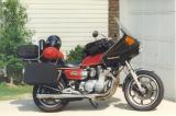 My '78 XS1100E pack for a ride into West Virginia about 1997