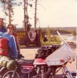 Me, my wife, and my '77 XS7502D at Yellowstone. 1980ish