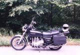 My '77 GL1000 Goldwing with Krauser bags in north Georgia 2001 (?)
