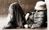 Homeless man at Quay