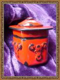 Red Faux Lacquer Box