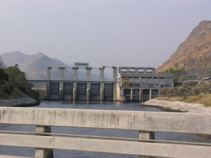 Thanthungna Dam. The start of the River Khwae (Kwai)