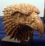 Carved small wooden eagle - San Diego County Fair at Del Mar