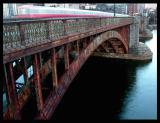 Longfellow Bridge and the Red Line Train
