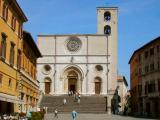 The Duomo on the north end of Piazza del Popolo: Built in the 12th century - Facade has some Renaissance features.