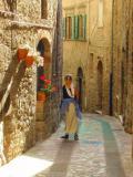 Judy on a street in Todi 1