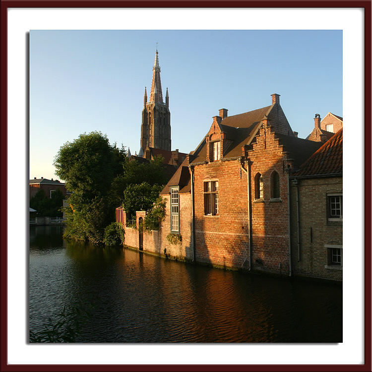 Bruges canals and Ste Anne Church