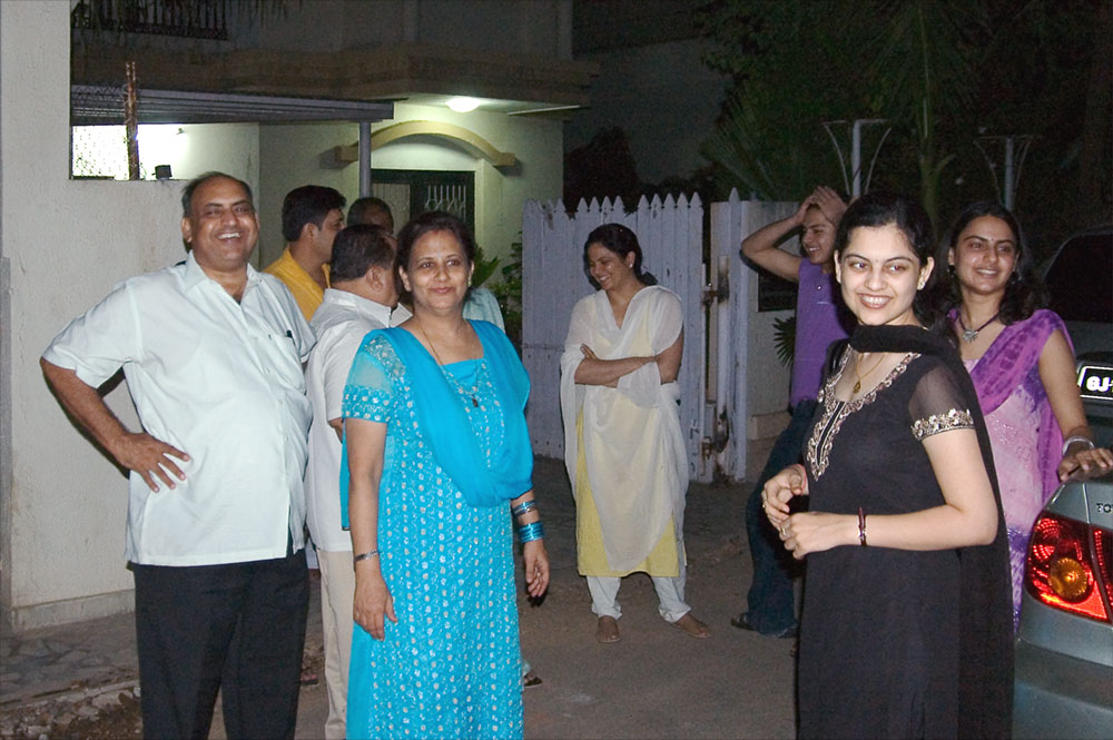 Ahmedabad clan - or at least some of them...