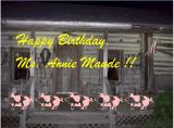 Happy Birthday At Country Cabin For Ms. Annie Maude