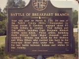 Battle Of Breakfast Branch History Marker