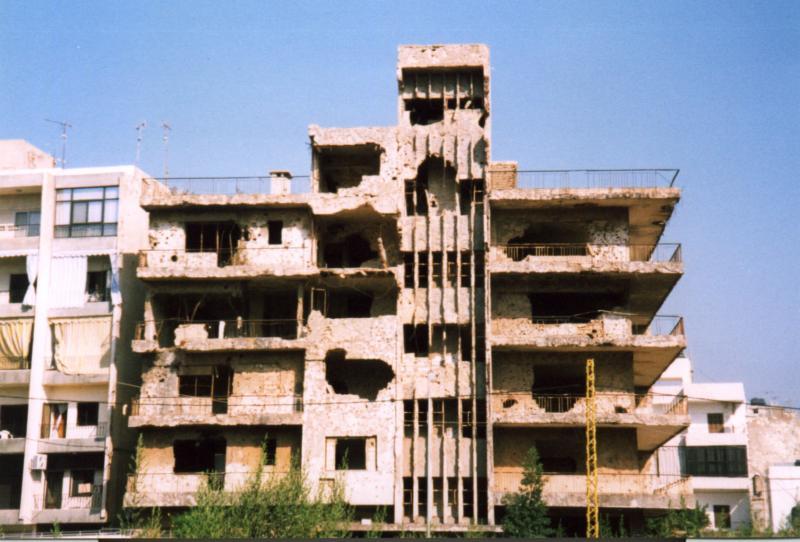 Beirut - reminder of the war
