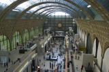 Built in 1900 as a train station, the Orsay was converted in 1977 to a striking art museum