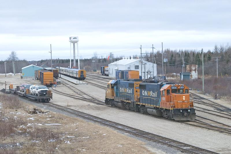 Heading to switch express freight track