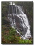 Eastatoe Falls on a rainy day