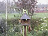 Monty in the bird table 1 April 2005