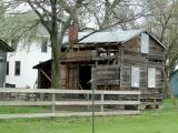 Fischer Farm Old Cabin During Restoration