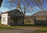Fischer Farm Front of Restored Cabin