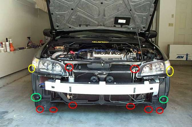 98 Accord 6gen Headlight And Front Bumper Removal Honda