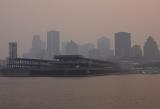 Montreal under Northern Quebec wildfires smoke