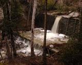 Flood Over Debris Dam, Gabrielino Trail
