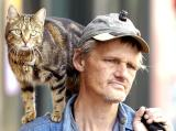 A man and his cat...