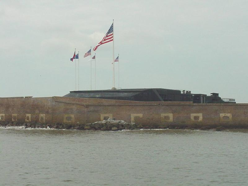 Approaching Fort Sumter
