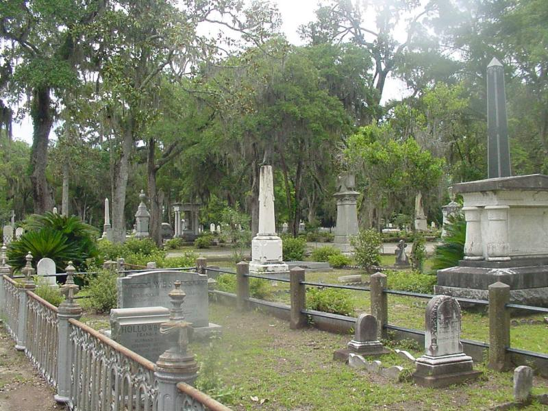 A view of the famous Bonaventure Cemetery