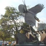 A great statue of an eagle