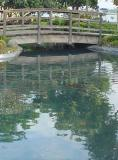I would love to have this bridge and pond in my backyard