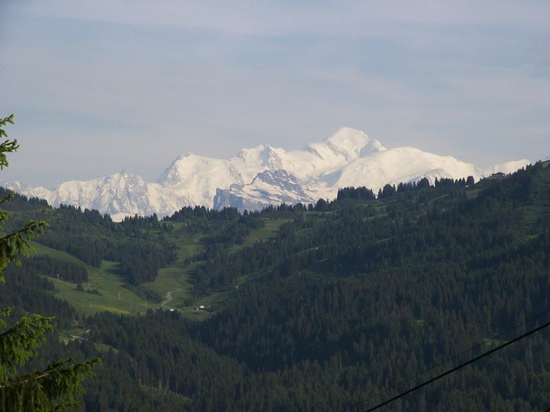 Mont Blanc from above Les Gets