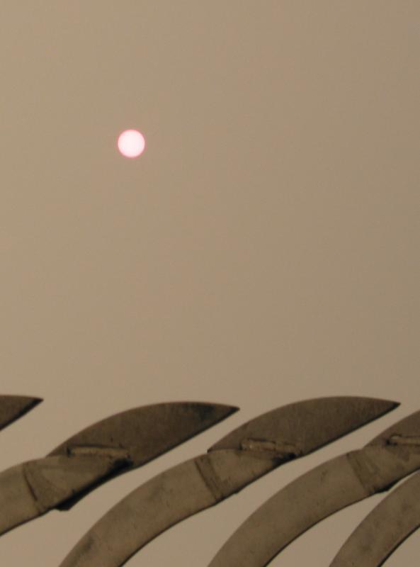 Sun through the hazy clouds