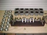 Crankshaft with piston and cylinders1.