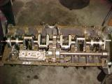 Case with crankshaft oil pumpand driveshaft installed.