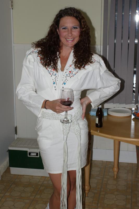 Kelly dressed as ?