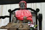 Seated figure of Binzuru, said to have curative powers