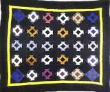 082:Hole in the Barn Door Indiana- dated in quilting 1930  91x75