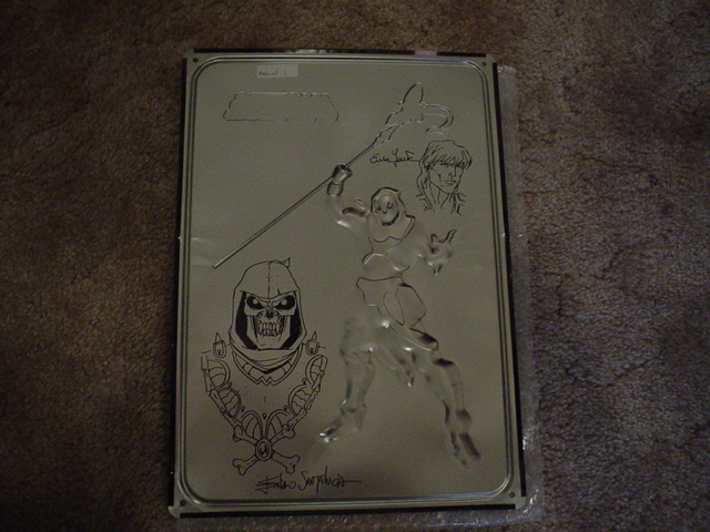 Head Sketch on back of Skeletor Wall tin