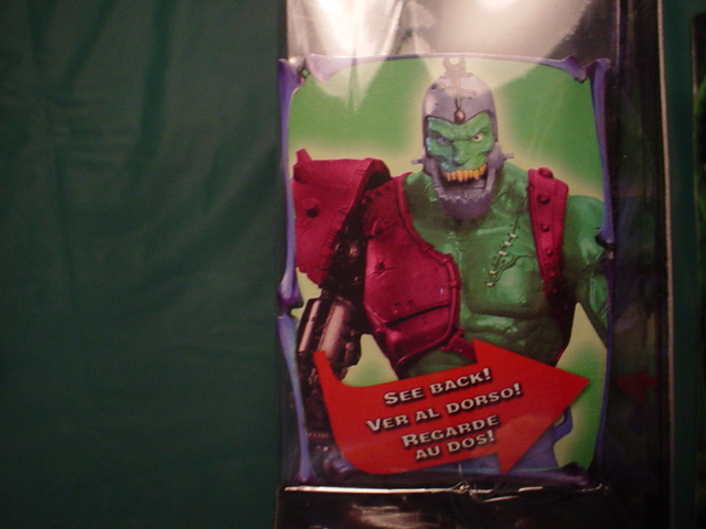 Trapjaw Snakemen card (note this color of Trapjaw wasn't produced)