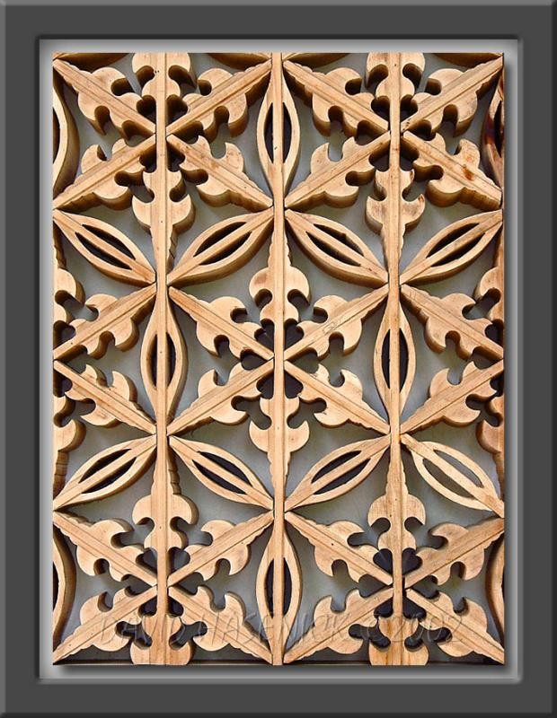 Buddhist Temple Lattice Door