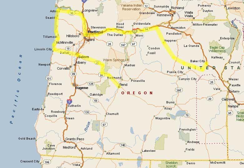 Columbia River Oregon Map Oregon Map - Oregon river maps