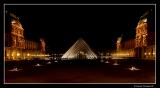 The Louvre at midnight