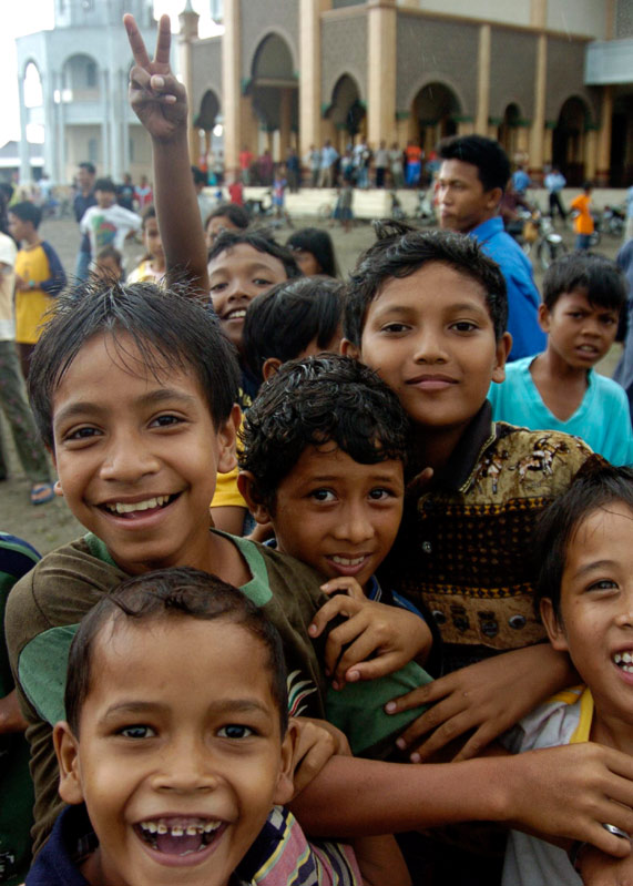 children smile and cheer