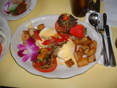 Crabcakes Florentine
