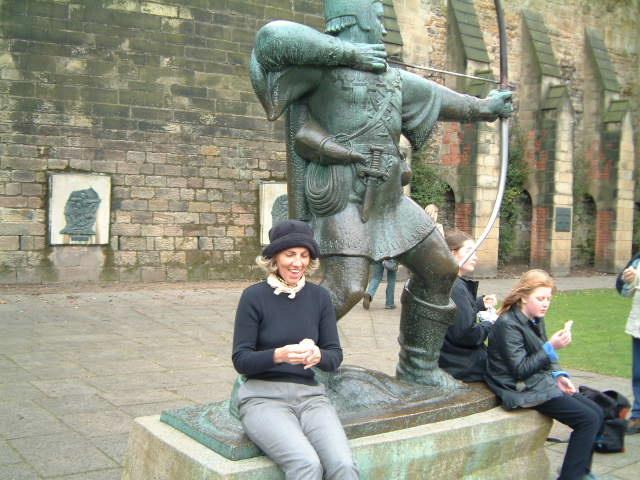 rachel at robinhood statue