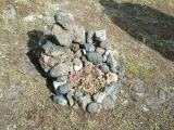 Stacked rocks at Laufskálavarða