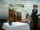 Inside the Pearl restaurant