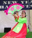 Korean fan dancer